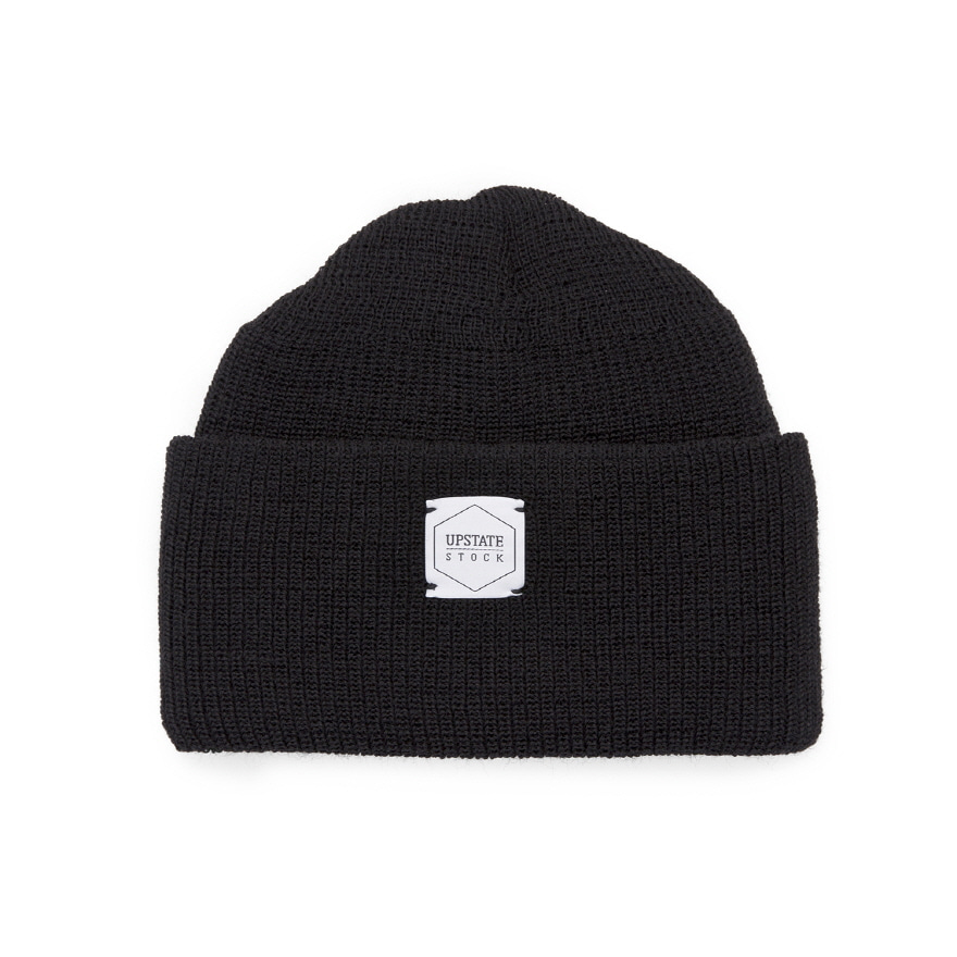 Double Guage Wool Watchcap - Black