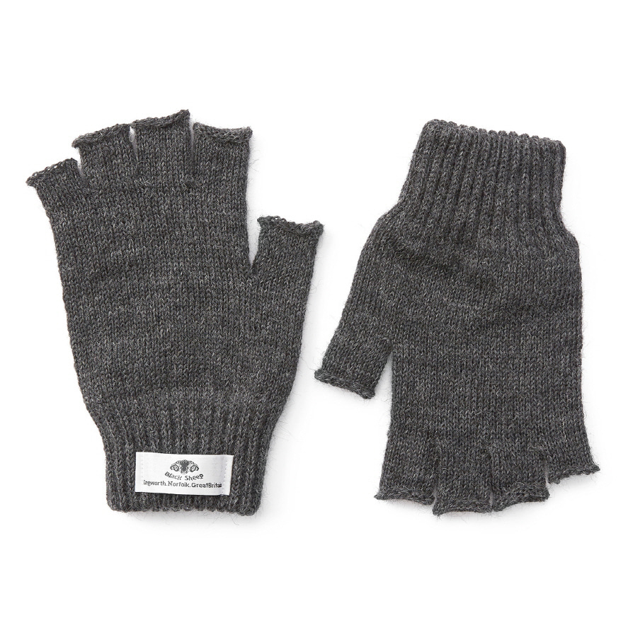 [재입고] Fingerless Mitts - Charcoal