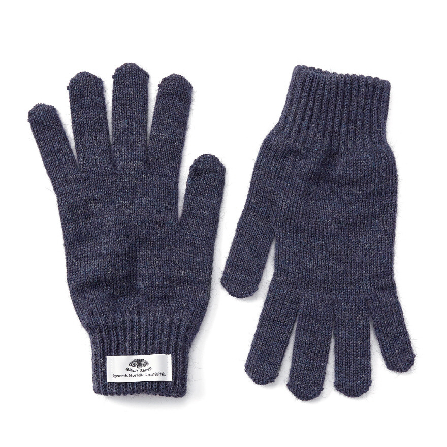 Machined Gloves - Denim Mix