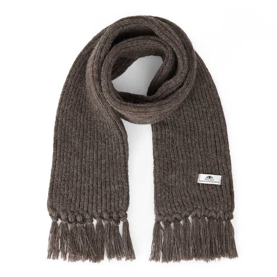 Ribbed Scarf - Dark Grey