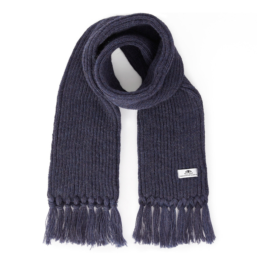 [재입고] Ribbed Scarf - Denim Mix