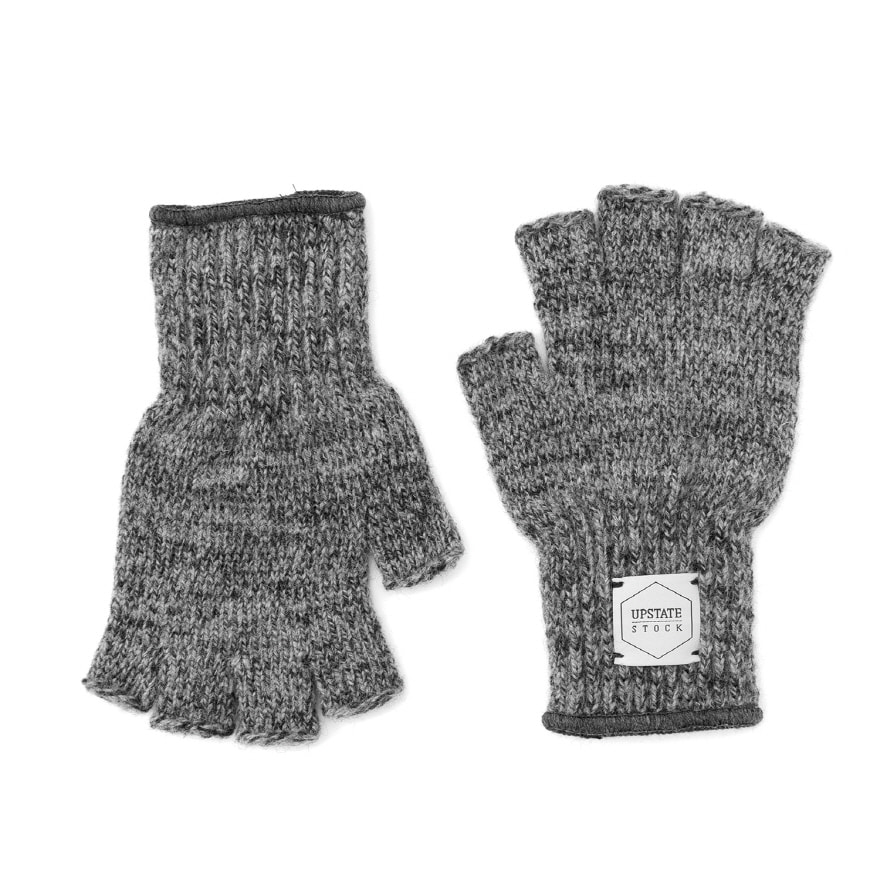 Fingerless Wool Glove - Charcoal