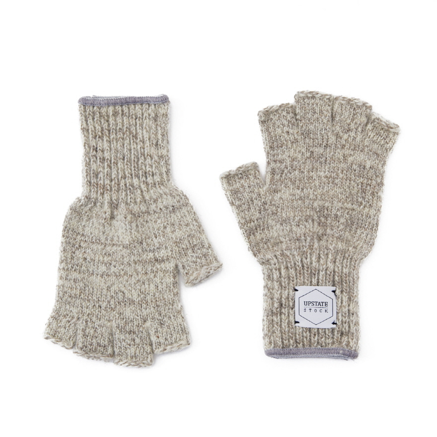 Fingerless Wool Glove - Oatmeal