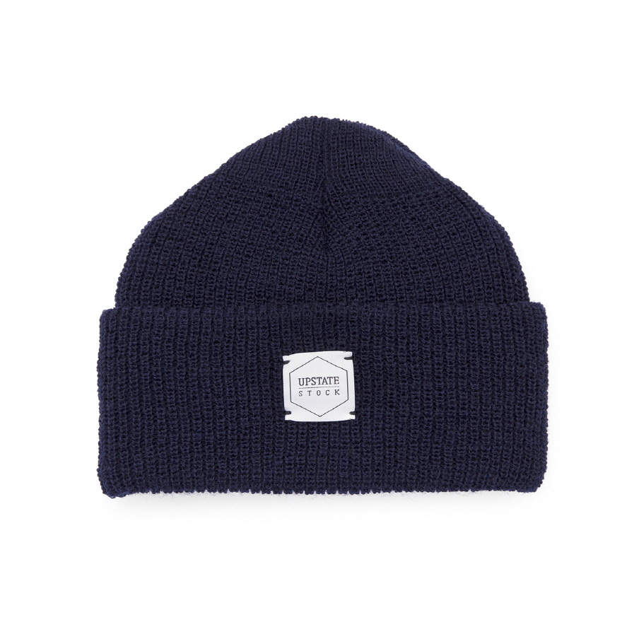 Double Guage Wool Watchcap - Navy