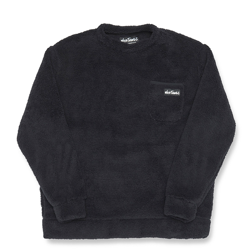 Pile Fleece Pullover - Black