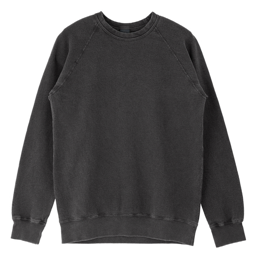 Raglan Crew Sweat - P-Black