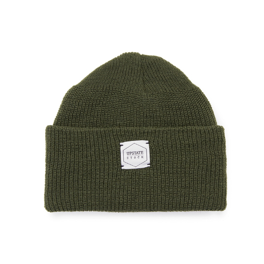 Double Guage Wool Watchcap - Olive