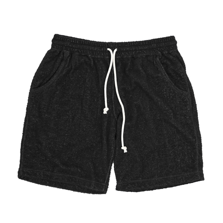 Double Pile Shorts - Black