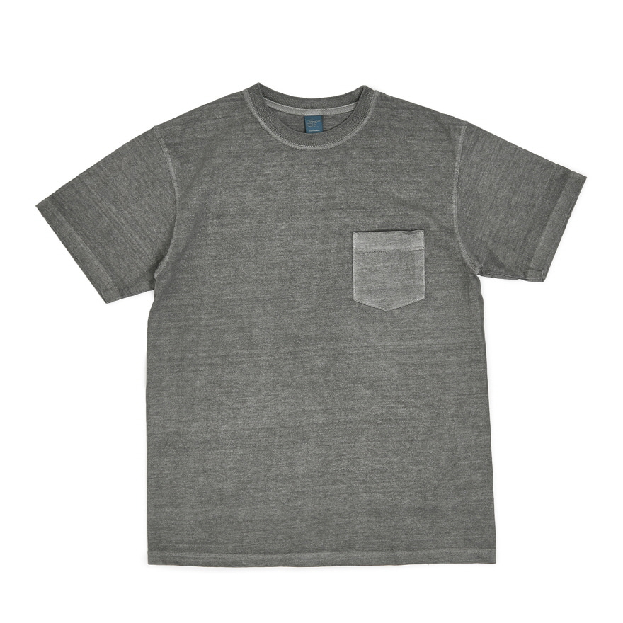 Crew Neck Pocket T-shirts - P-Gray
