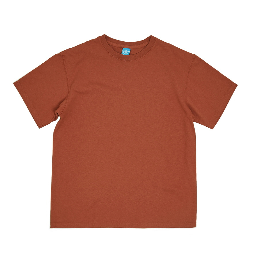 Crew Neck T-shirts - Orange